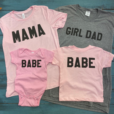 GIRL DAD/BABE | MATCHING TEE SET