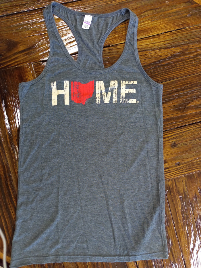 OHIO LADIES TANK | HOME | RED/EGGSHELL