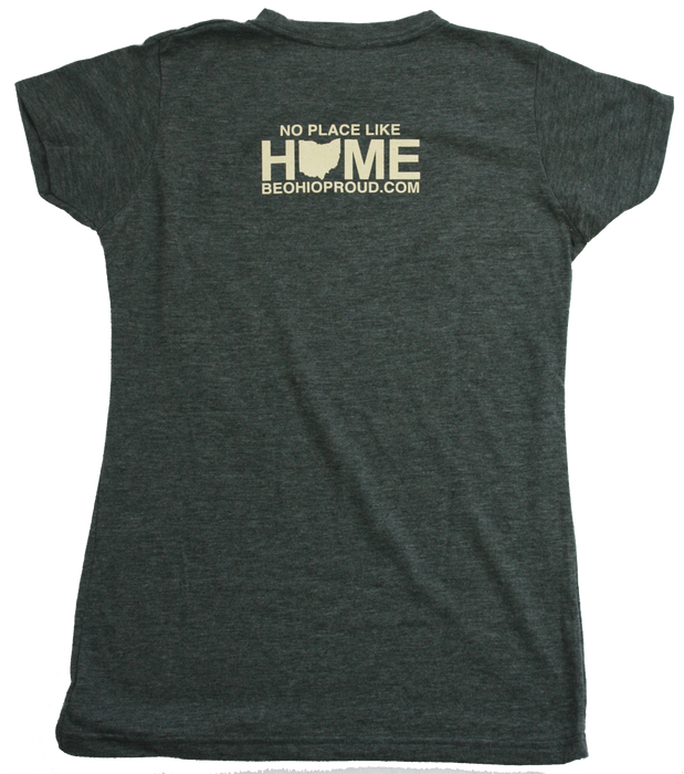 OHIO JUNIOR CUT TEE | HOME | RED/EGGSHELL
