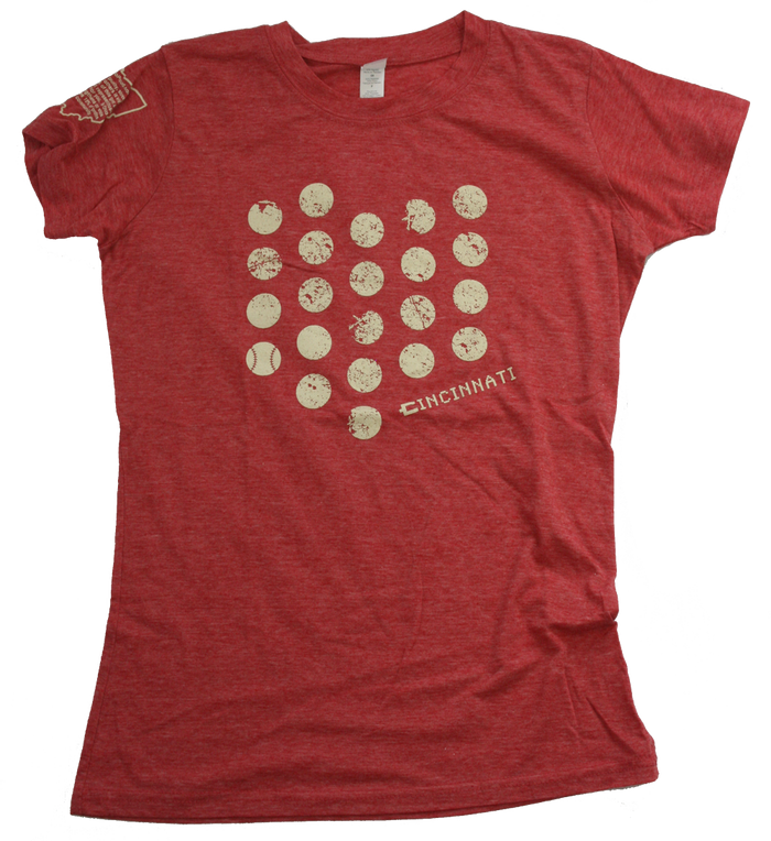 Ladies' Ohio Tee | Cincinnati Dot | Eggshell