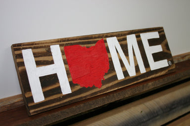 OHIO WOODEN SIGN | HOME | RED