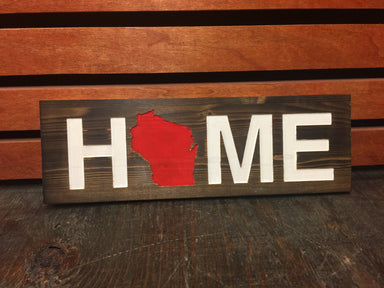 WISCONSIN WOODEN SIGN | HOME | RED - My State Threads