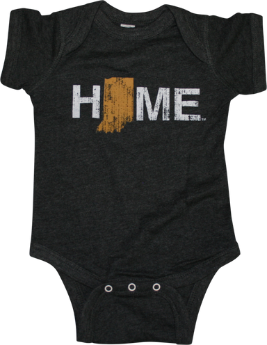 Indiana Home Outline Onesie - Gold/Black/White