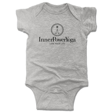 INNER POWER YOGA STUDIO | GRAY ONESIE | BLACK LOGO