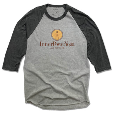 INNER POWER YOGA STUDIO | GRAY 3/4 SLEEVE | COLOR LOGO