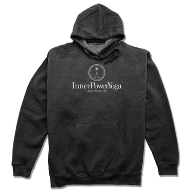 INNER POWER YOGA STUDIO | HOODIE | WHITE LOGO