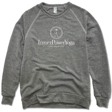 INNER POWER YOGA STUDIO | FLEECE SWEATSHIRT | WHITE LOGO