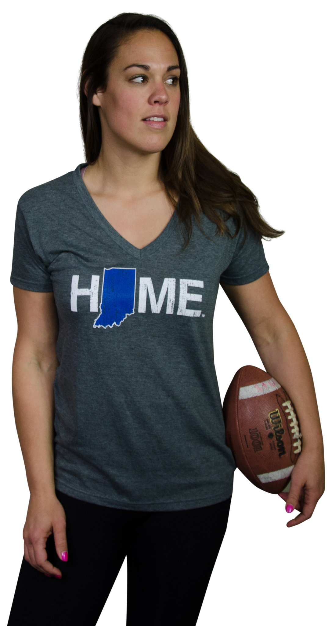 Ladies' Indiana V-Neck | Blue/White