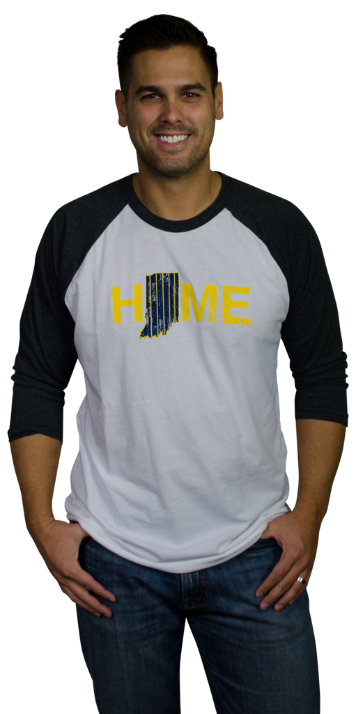Indiana 3/4 Sleeve | Navy/Gold