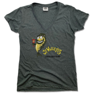 JF WALLEY'S | LADIES V-NECK | DESIGN