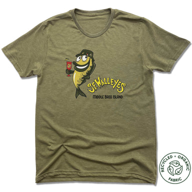JF WALLEY'S | UNISEX OLIVE Recycled Tri-Blend | DESIGN
