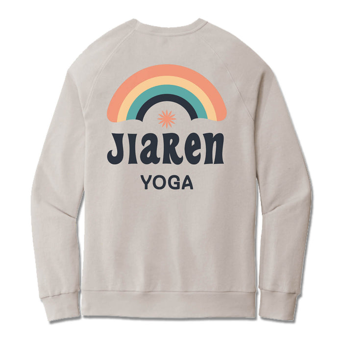 JIAREN YOGA STUDIO | LIGHT GRAY FRENCH TERRY SWEATSHIRT | GIVEWITHJIAREN
