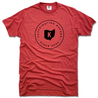 KOFENYA COFFEE | UNISEX RED TEE | CAFFEINATING OXFORD