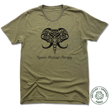 KYANITE MASSAGE THERAPY | UNISEX OLIVE Recycled Tri-Blend | ELEPHANT