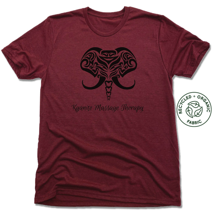 KYANITE MASSAGE THERAPY | UNISEX VINO RED Recycled Tri-Blend | ELEPHANT