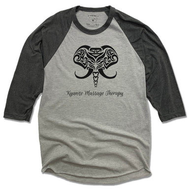 KYANITE MASSAGE THERAPY | GRAY 3/4 SLEEVE | ELEPHANT