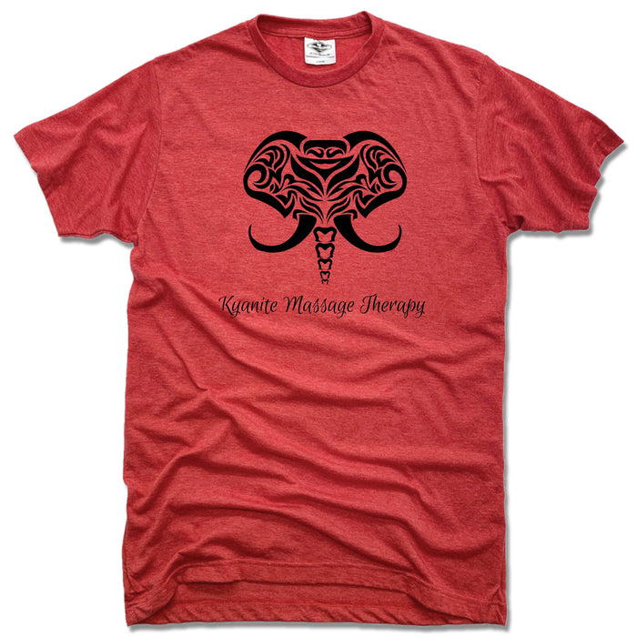 KYANITE MASSAGE THERAPY | UNISEX RED TEE | ELEPHANT