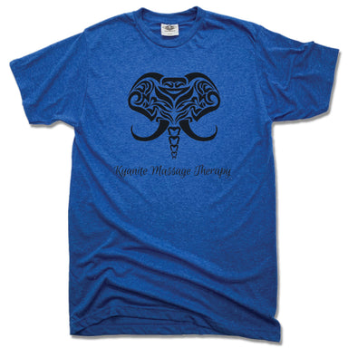 KYANITE MASSAGE THERAPY | UNISEX BLUE TEE | ELEPHANT