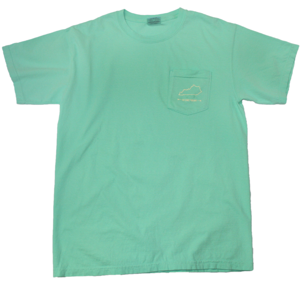 KENTUCKY MINT POCKET TEE | OUTLINE | PALE YELLOW