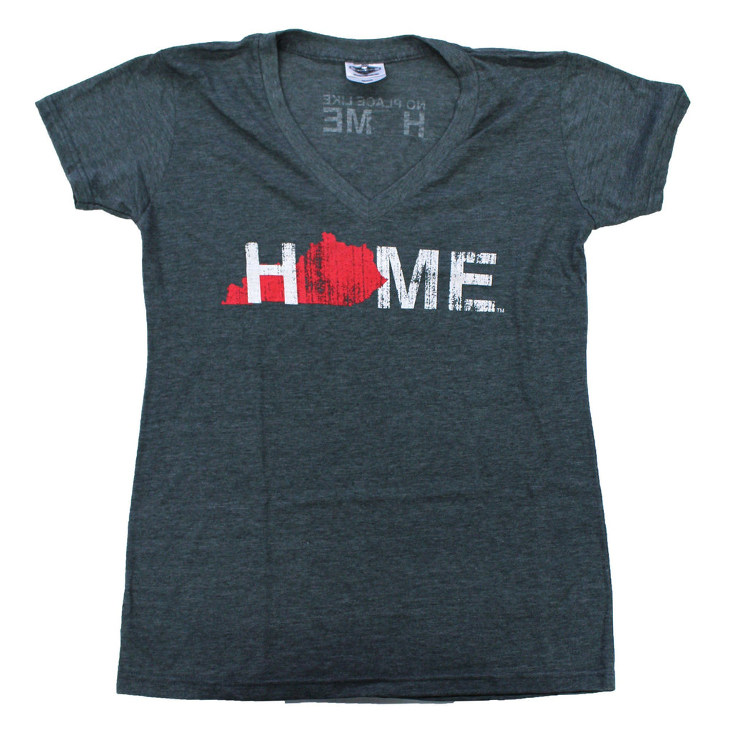 KENTUCKY LADIES V-NECK | HOME | RED