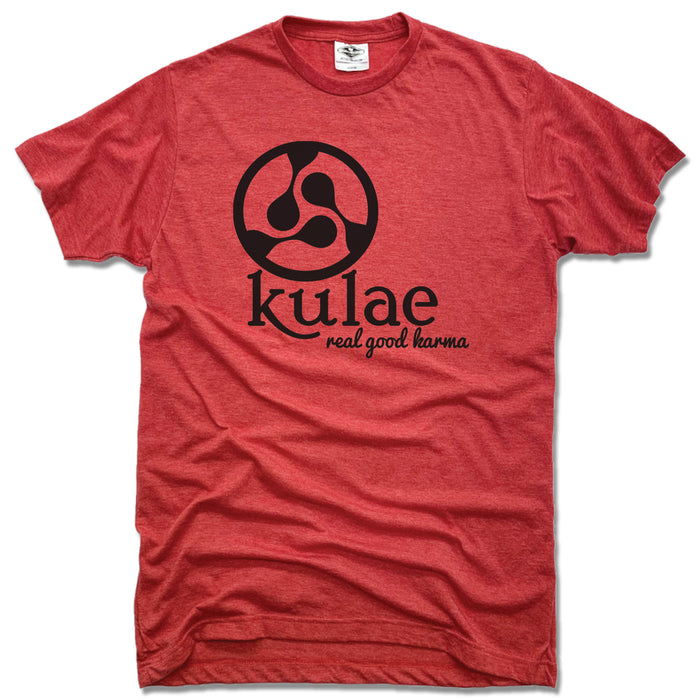 KULAE YOGA | UNISEX RED TEE | BLACK LOGO