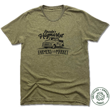 KD DESIGNS | UNISEX OLIVE Recycled Tri-Blend | LINCOLN'S HAYMARKET