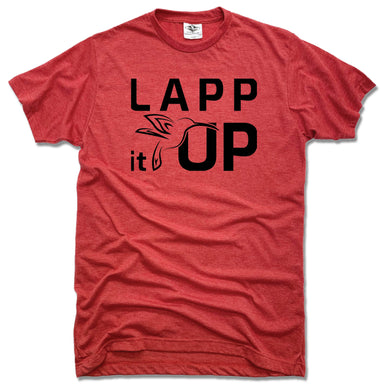 LAPP IT UP | UNISEX RED TEE | BLACK LOGO