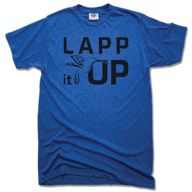 LAPP IT UP | UNISEX BLUE TEE | BLACK LOGO
