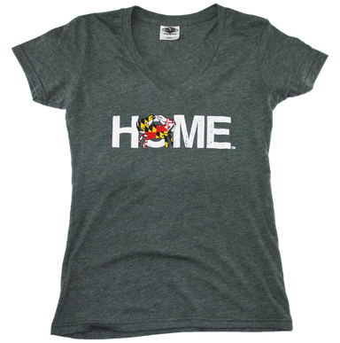 MARYLAND LADIES V-NECK | HOME | CRAB - My State Threads