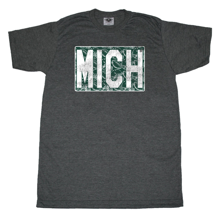 Green/White Michigan Vintage Football - Unisex Tee