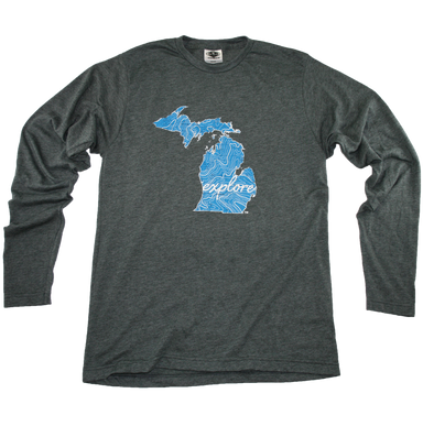 MICHIGAN LONG SLEEVE TEE | EXPLORE | MAP