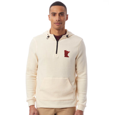 Minnesota Embroidered Eco-Teddy Outdoor Quarter-Zip Hoodie