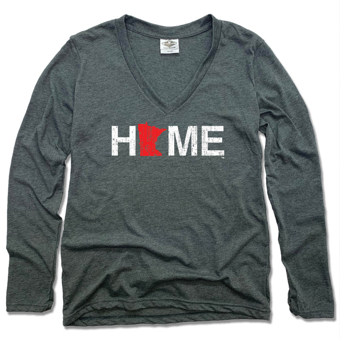 Minnesota HOME Red - Ladies' Long Sleeve