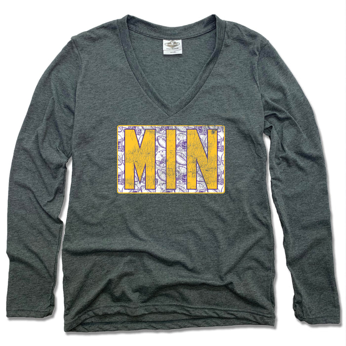 Minnesota Vintage Football - Ladies' Longsleeve