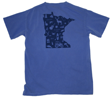 MINNESOTA POCKET TEE | OUTLINE | BLUE