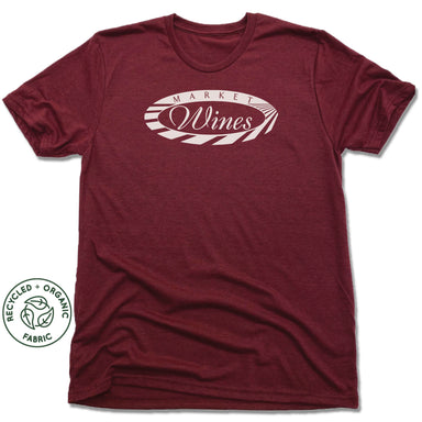 MARKET WINES | UNISEX VINO RED Recycled Tri-Blend | LOGO