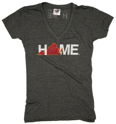 VIRGINIA LADIES V-NECK | HOME | MAROON/ORANGE