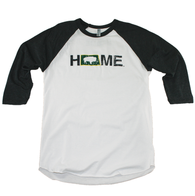 NORTH DAKOTA 3/4 SLEEVE | HOME | BISON - My State Threads