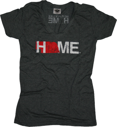 Ladies' Nebraska V-Neck | HOME | Red