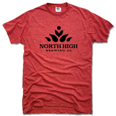 NORTH HIGH BREWING CO | UNISEX RED TEE | LOGO