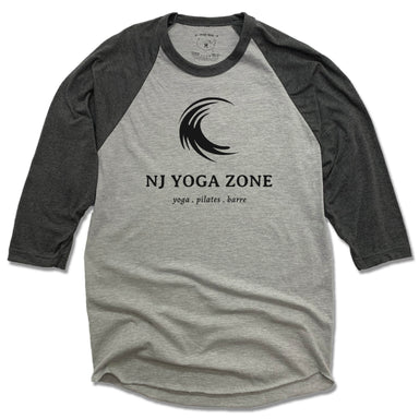NJ YOGA ZONE | GRAY 3/4 SLEEVE | BLACK LOGO