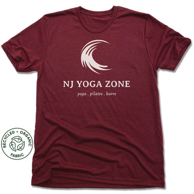 NJ YOGA ZONE | UNISEX VINO RED Recycled Tri-Blend