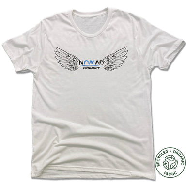 NOMAD BODYWORKS | UNISEX WHITE Recycled Tri-Blend | WINGS