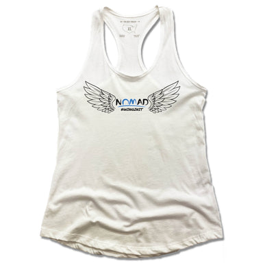 NOMAD BODYWORKS | LADIES WHITE TANK | WINGS
