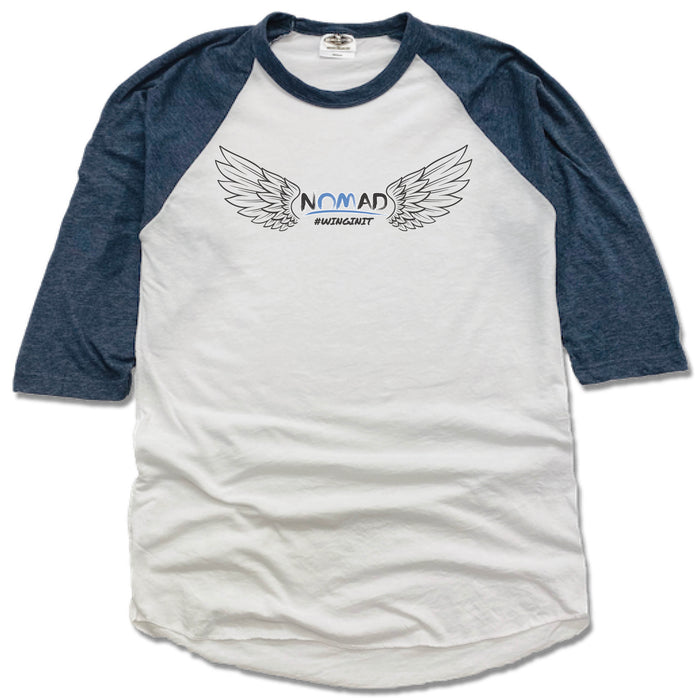 NOMAD BODYWORKS | NAVY 3/4 SLEEVE | WINGS