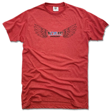 NOMAD BODYWORKS | UNISEX RED TEE | WINGS