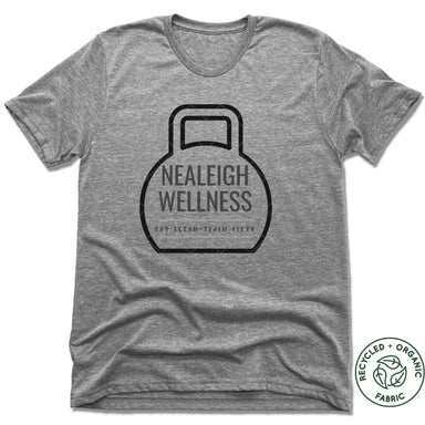 NEALEIGH WELLNESS | UNISEX GRAY Recycled Tri-Blend | LOGO