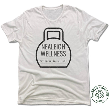 NEALEIGH WELLNESS | UNISEX WHITE Recycled Tri-Blend | LOGO