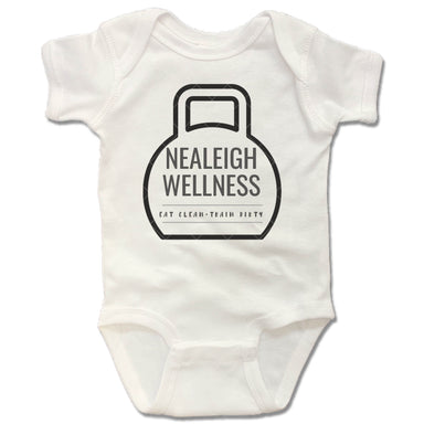 NEALEIGH WELLNESS | WHITE ONESIE | LOGO