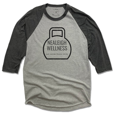 NEALEIGH WELLNESS | GRAY 3/4 SLEEVE | LOGO